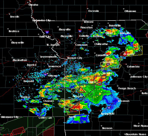 Radar Image for Severe Thunderstorms near Wooldridge, MO at 5/22/2019 8:56 PM CDT