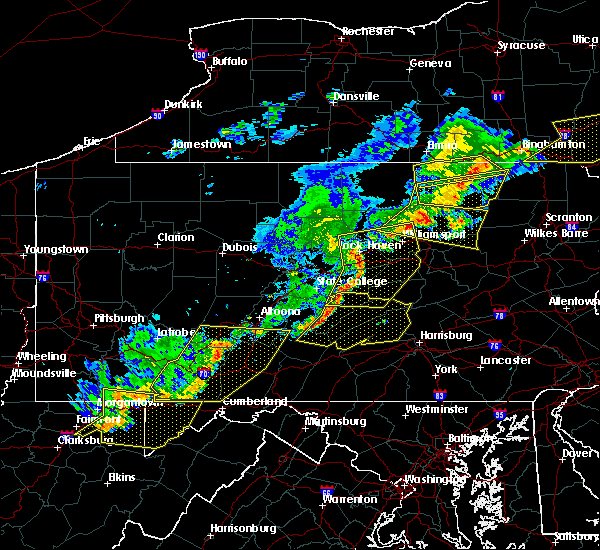 Radar Image for Severe Thunderstorms near State College, PA at 6/12/2015 8:39 PM EDT