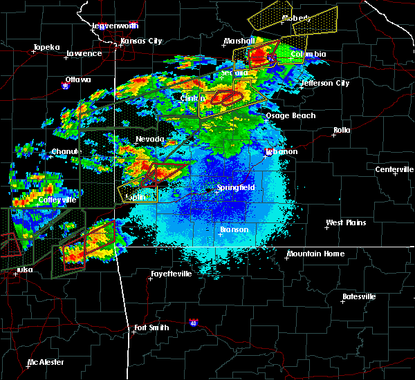 Radar Image for Severe Thunderstorms near Golden City, MO at 5/22/2019 9:11 PM CDT