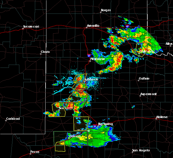 Radar Image for Severe Thunderstorms near New Home, TX at 6/12/2015 7:43 PM CDT