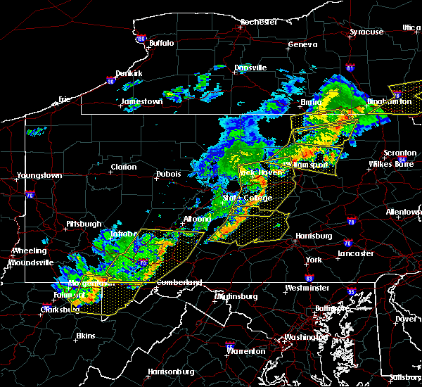 Radar Image for Severe Thunderstorms near Hummels Wharf, PA at 6/12/2015 8:46 PM EDT