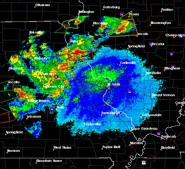 Radar Image for Severe Thunderstorms near Fulton, MO at 5/22/2019 10:43 PM CDT