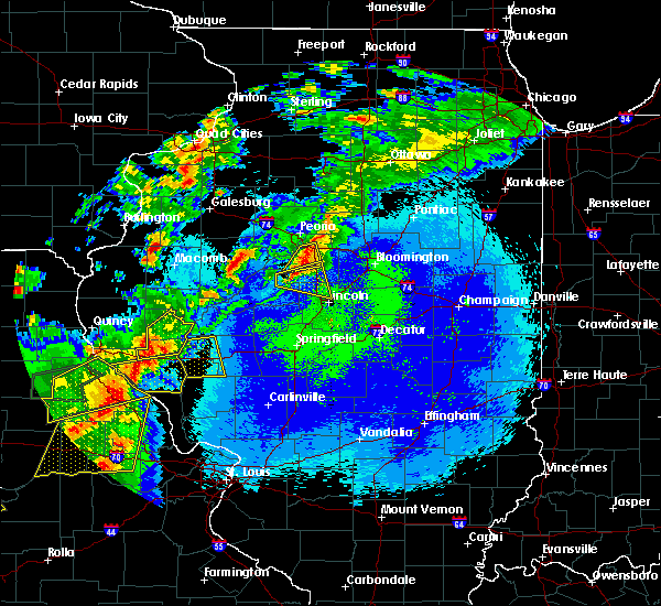 Radar Image for Severe Thunderstorms near New Salem, IL at 5/22/2019 11:09 PM CDT