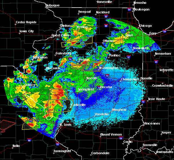 Radar Image for Severe Thunderstorms near Pleasant Plains, IL at 5/22/2019 11:59 PM CDT