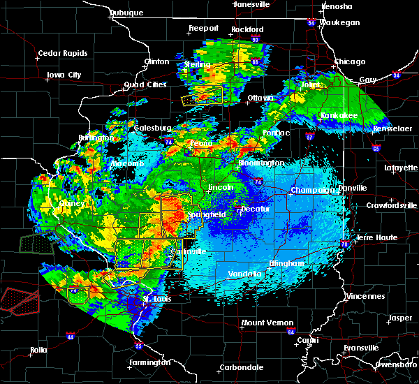 Radar Image for Severe Thunderstorms near Rochester, IL at 5/23/2019 12:15 AM CDT