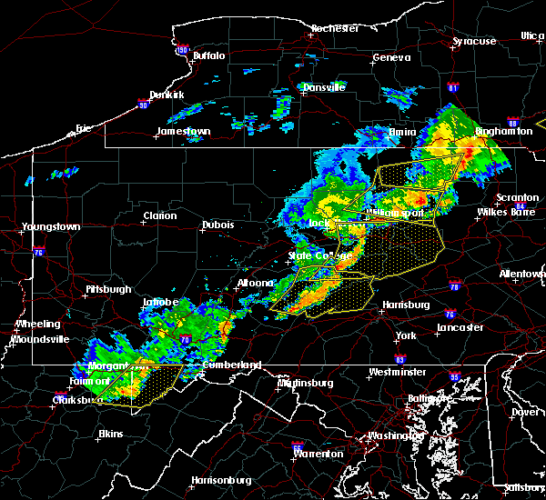 Radar Image for Severe Thunderstorms near New Buffalo, PA at 6/12/2015 9:02 PM EDT