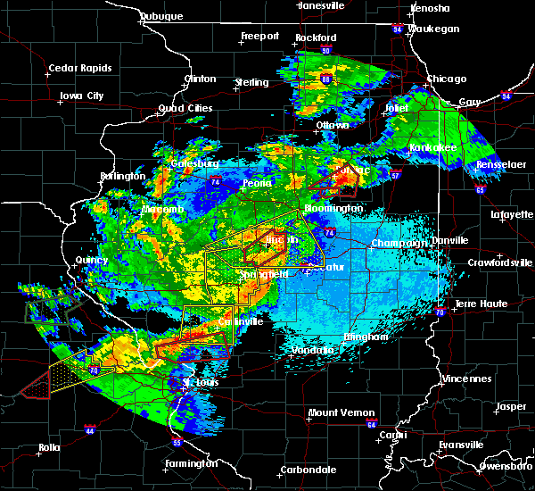 Radar Image for Severe Thunderstorms near Taylorville, IL at 5/23/2019 12:47 AM CDT
