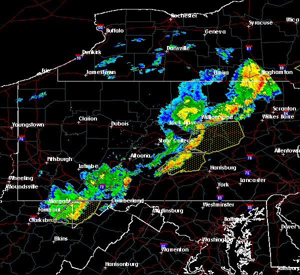 Radar Image for Severe Thunderstorms near Muncy, PA at 6/12/2015 9:04 PM EDT