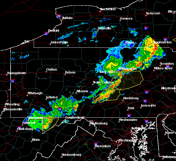 Radar Image for Severe Thunderstorms near State College, PA at 6/12/2015 9:09 PM EDT
