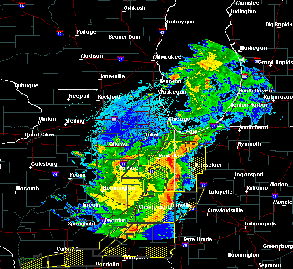 Radar Image for Severe Thunderstorms near Otterbein, IN at 5/23/2019 2:17 AM CDT
