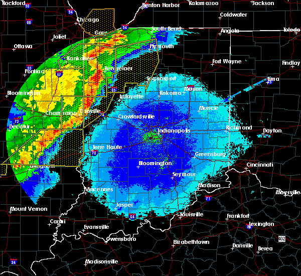 Radar Image for Severe Thunderstorms near Otterbein, IN at 5/23/2019 3:32 AM EDT