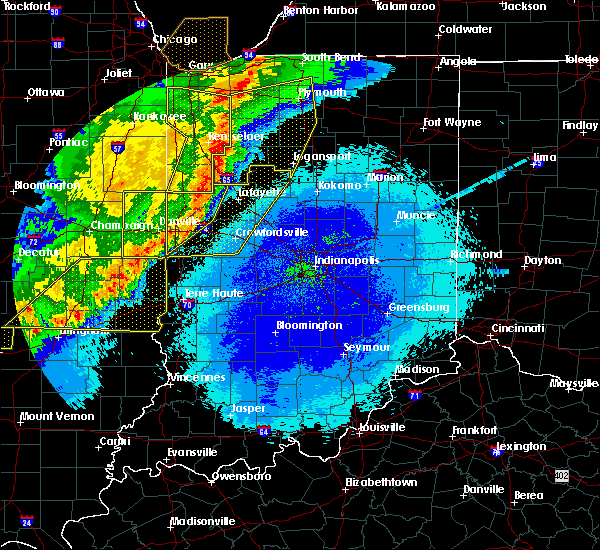 Radar Image for Severe Thunderstorms near Marshall, IN at 5/23/2019 3:50 AM EDT