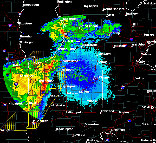 Radar Image for Severe Thunderstorms near Knox, IN at 5/23/2019 3:51 AM EDT