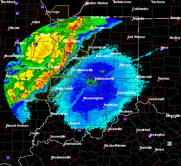 Radar Image for Severe Thunderstorms near Otterbein, IN at 5/23/2019 3:58 AM EDT