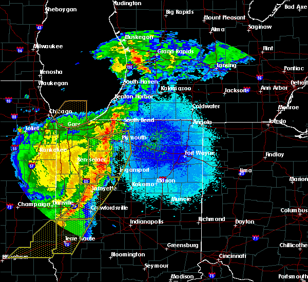 Radar Image for Severe Thunderstorms near Knox, IN at 5/23/2019 4:16 AM EDT