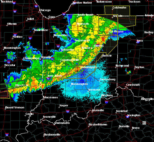 Radar Image for Severe Thunderstorms near Chesterfield, IN at 5/23/2019 5:29 AM EDT