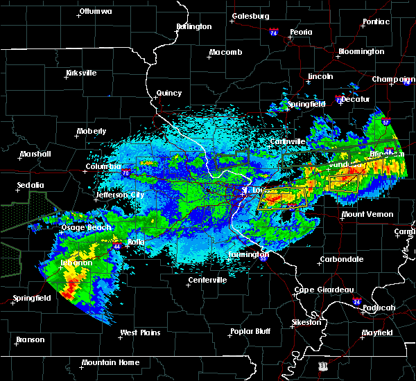 Radar Image for Severe Thunderstorms near Collinsville, IL at 5/23/2019 4:36 AM CDT
