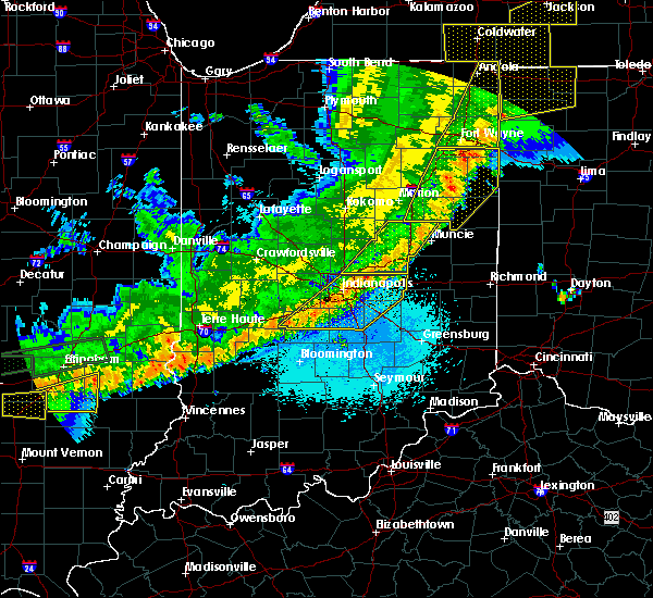 Radar Image for Severe Thunderstorms near Greenfield, IN at 5/23/2019 5:46 AM EDT