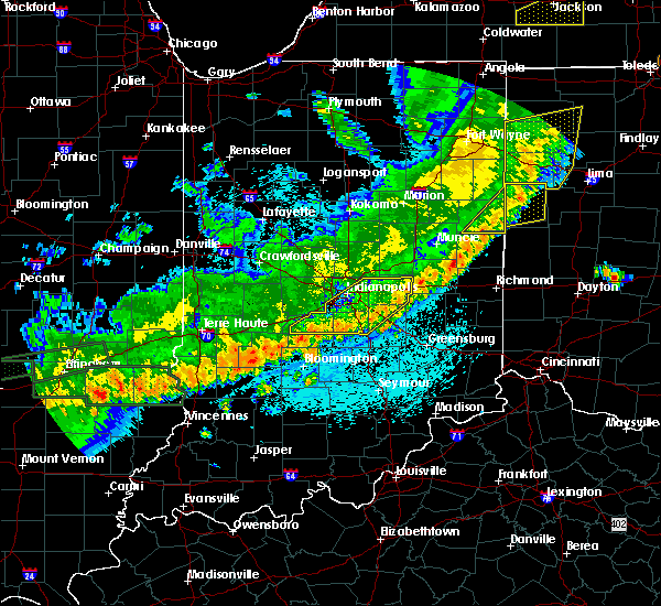 Radar Image for Severe Thunderstorms near Indianapolis, IN at 5/23/2019 6:09 AM EDT