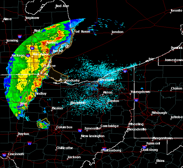 Radar Image for Severe Thunderstorms near New Riegel, OH at 5/23/2019 6:45 AM EDT