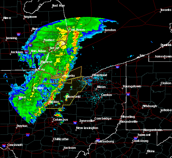 Radar Image for Severe Thunderstorms near Polk, OH at 5/23/2019 7:36 AM EDT