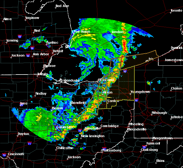 Radar Image for Severe Thunderstorms near North Lawrence, OH at 5/23/2019 8:50 AM EDT