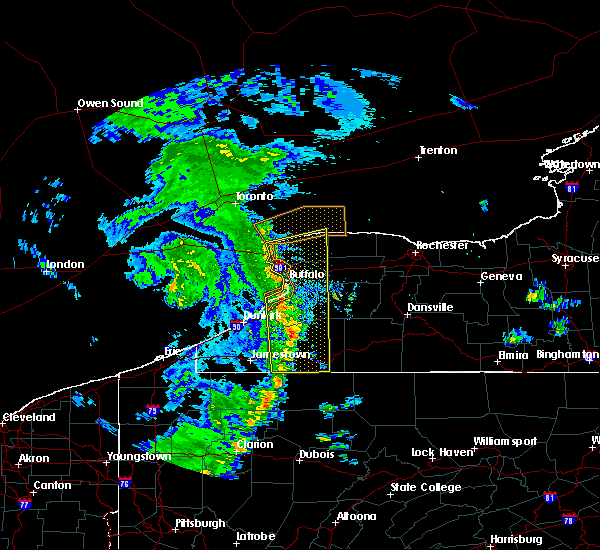 Radar Image for Severe Thunderstorms near Salamanca, NY at 5/23/2019 10:34 AM EDT