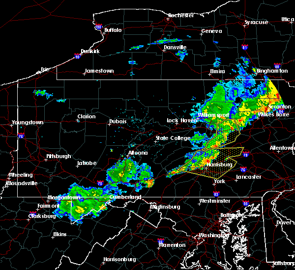 Radar Image for Severe Thunderstorms near Rupert, PA at 6/12/2015 9:50 PM EDT
