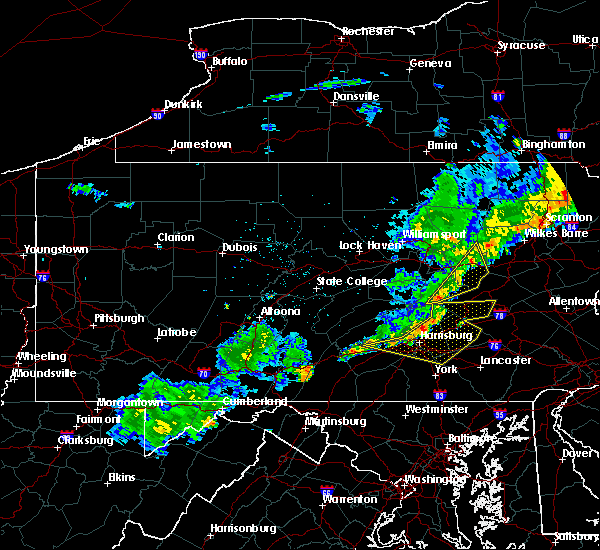 Radar Image for Severe Thunderstorms near Dauphin, PA at 6/12/2015 9:50 PM EDT