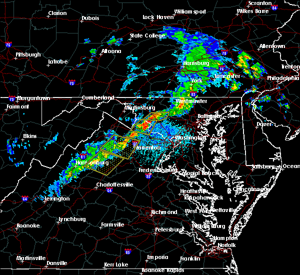 Radar Image for Severe Thunderstorms near The Plains, VA at 5/23/2019 2:54 PM EDT