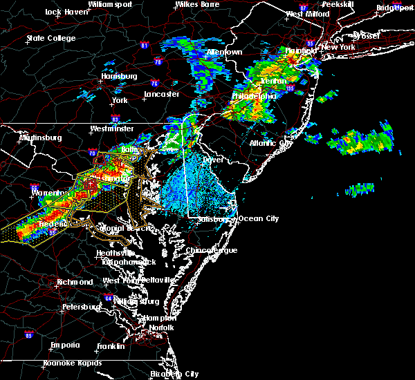 Radar Image for Severe Thunderstorms near Kent Narrows, MD at 5/23/2019 3:56 PM EDT