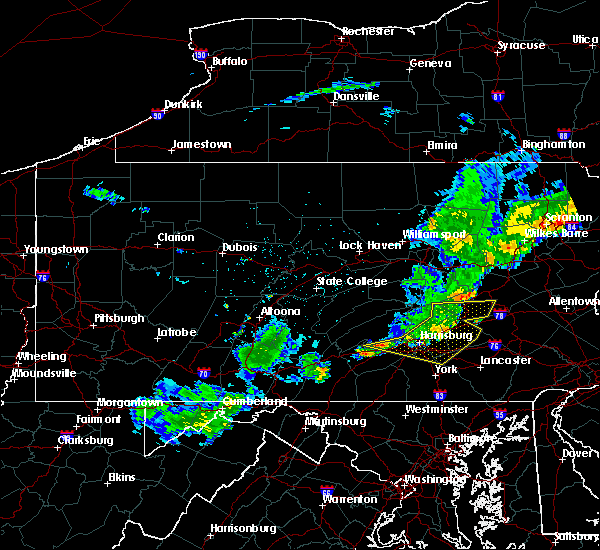 Radar Image for Severe Thunderstorms near Quentin, PA at 6/12/2015 10:06 PM EDT
