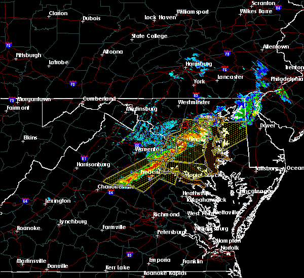 Radar Image for Severe Thunderstorms near Woodmore, MD at 5/23/2019 4:03 PM EDT