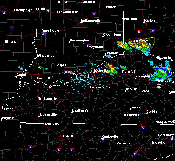 Radar Image for Severe Thunderstorms near Eminence, KY at 5/23/2019 5:14 PM EDT