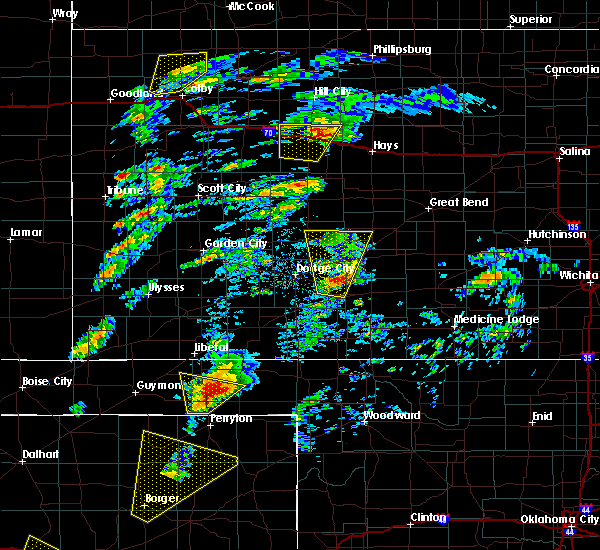 Radar Image for Severe Thunderstorms near Jetmore, KS at 5/23/2019 4:24 PM CDT