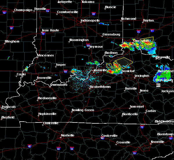 Radar Image for Severe Thunderstorms near Eminence, KY at 5/23/2019 5:28 PM EDT