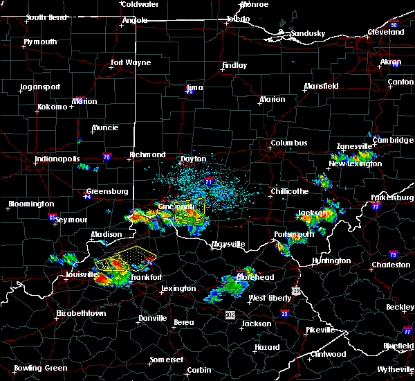 Radar Image for Severe Thunderstorms near Hillsboro, OH at 5/23/2019 5:33 PM EDT