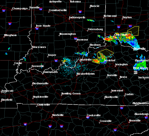 Radar Image for Severe Thunderstorms near Shelbyville, KY at 5/23/2019 5:34 PM EDT