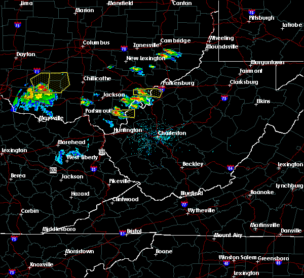 Radar Image for Severe Thunderstorms near Gallipolis, OH at 5/23/2019 5:53 PM EDT