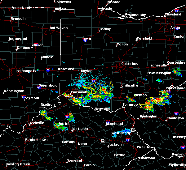 Radar Image for Severe Thunderstorms near Cincinnati, OH at 5/23/2019 6:08 PM EDT