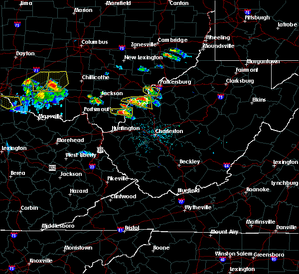 Radar Image for Severe Thunderstorms near Hockingport, OH at 5/23/2019 6:08 PM EDT