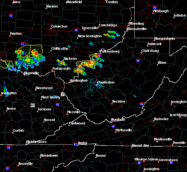 Radar Image for Severe Thunderstorms near Gallipolis, OH at 5/23/2019 6:13 PM EDT