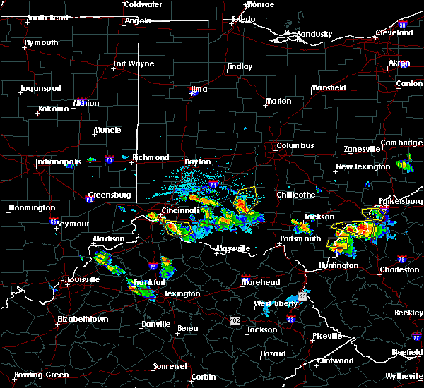 Radar Image for Severe Thunderstorms near Cincinnati, OH at 5/23/2019 6:17 PM EDT
