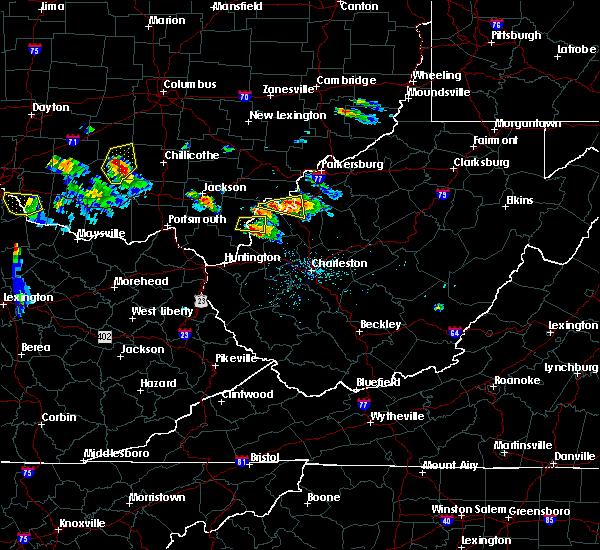 Radar Image for Severe Thunderstorms near Hartford City, WV at 5/23/2019 6:21 PM EDT