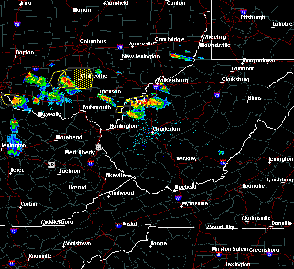 Radar Image for Severe Thunderstorms near Gallipolis, OH at 5/23/2019 6:28 PM EDT