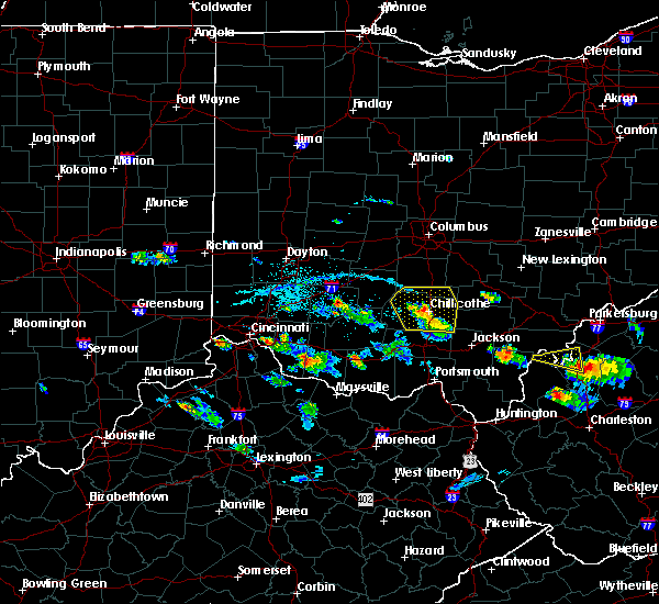 Radar Image for Severe Thunderstorms near Chillicothe, OH at 5/23/2019 6:44 PM EDT