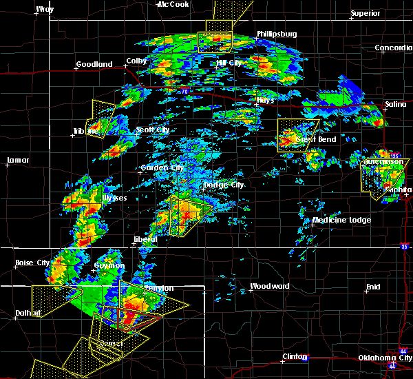 Radar Image for Severe Thunderstorms near Albert, KS at 5/23/2019 6:03 PM CDT