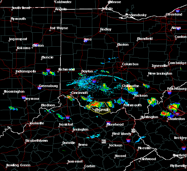Radar Image for Severe Thunderstorms near West Union, OH at 5/23/2019 7:03 PM EDT