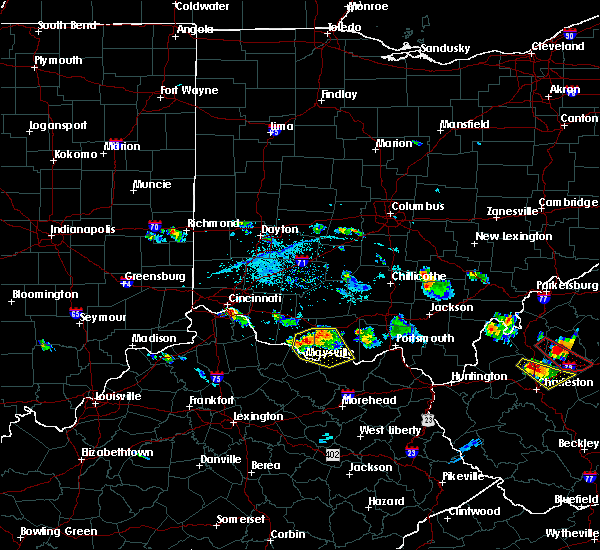 Radar Image for Severe Thunderstorms near West Union, OH at 5/23/2019 7:10 PM EDT