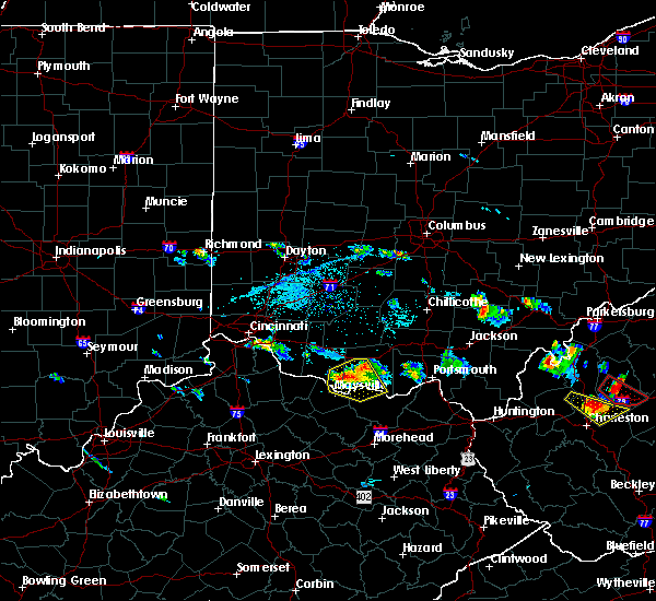 Radar Image for Severe Thunderstorms near West Union, OH at 5/23/2019 7:18 PM EDT